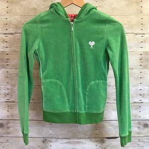Juicy Couture Bright Green Full Zip Tennis Hoodie